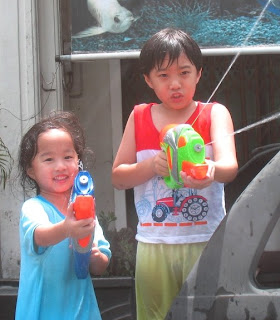 Kids love Songkran