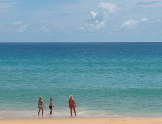 Karon Beach. Too crowded, rain, big waves... NOT!