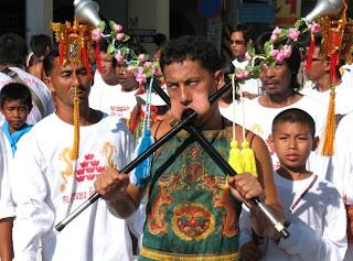 Phuket Vegetarian Festival - procession in Phuket Town
