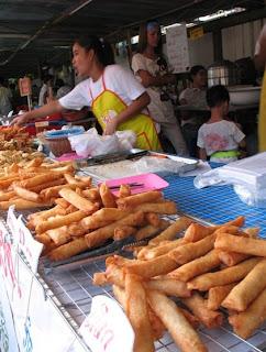Vegetarian Spring Rolls, Ranong Road, Phuket
