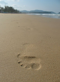 Footprint in the sand, Karon Beach, 4th November