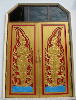 Decorated doors at the temple
