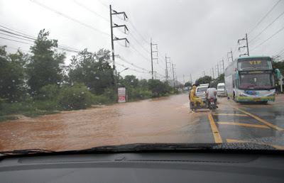 Road flooding in Phuket, Friday 28th August