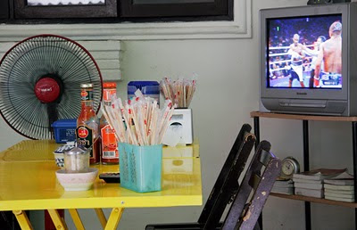 Sunday Muay Thai on the TV