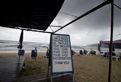 Grey skies at Karon Beach, 22nd August