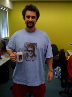 Jeremy Robinson with t-shirt