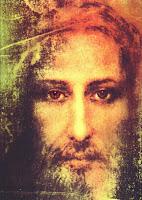 Rostro de Jesucristo sobre una sábana