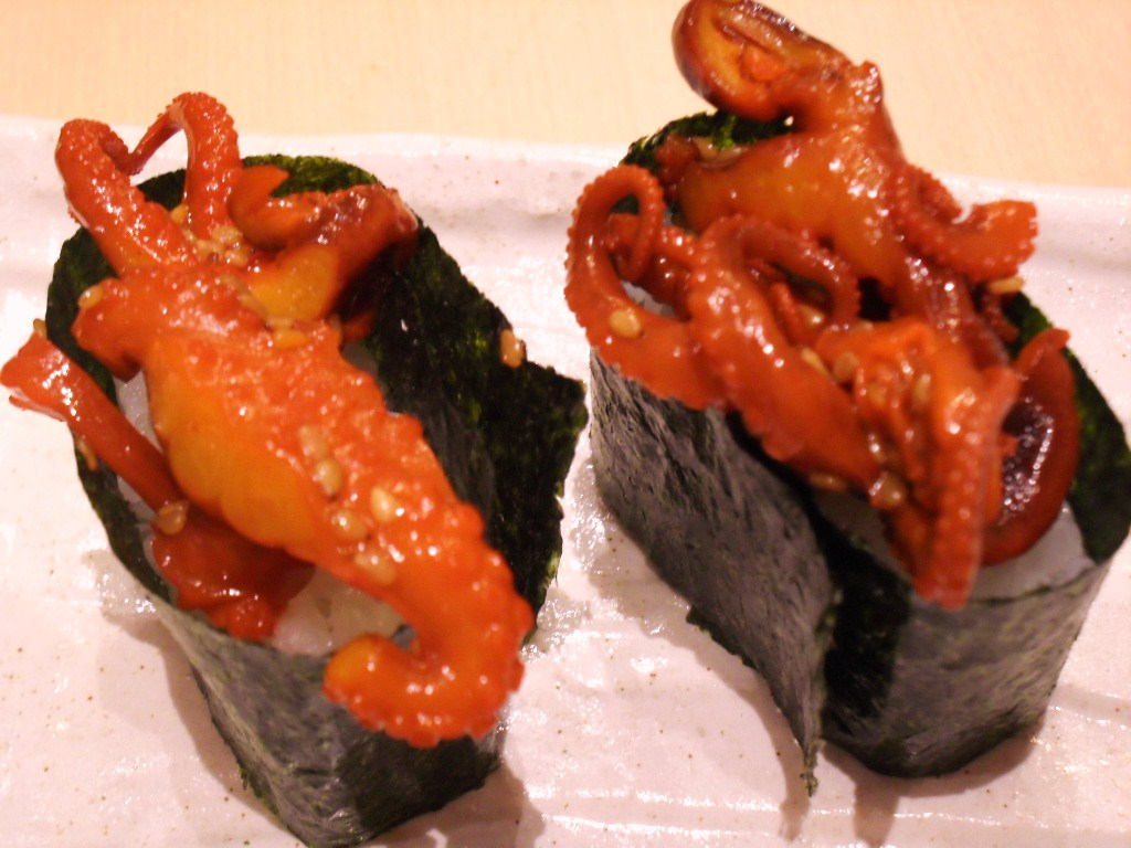 FOODnTRAVELla: SUSHI ZANMAI IN LOW YAT PLAZA Baby Octopus Sashimi