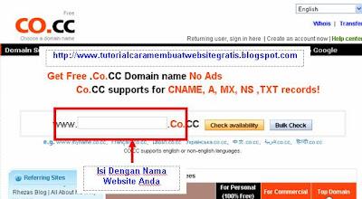 Cara mendapatkan Domain Gratis - free domain