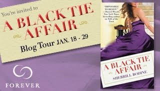 a black tie affair tour button