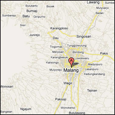 Kota Malang Google Map