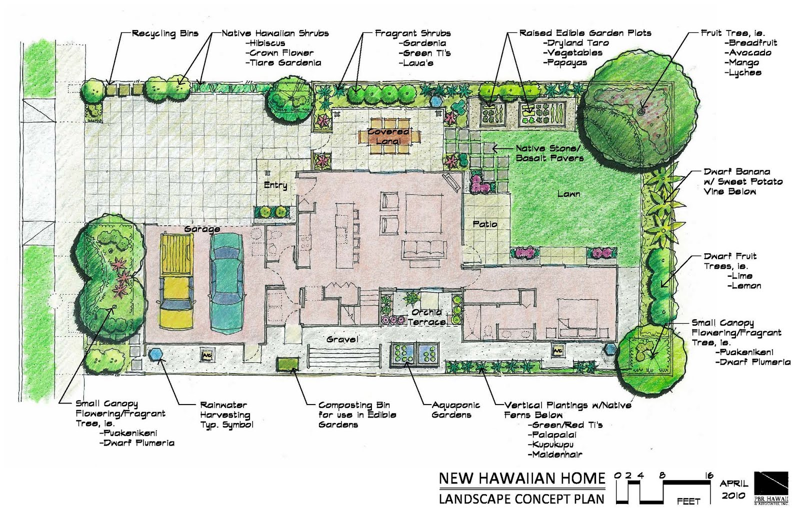 Landscape House Plan Of New Hawaiian Home Nhh Landscape Plan