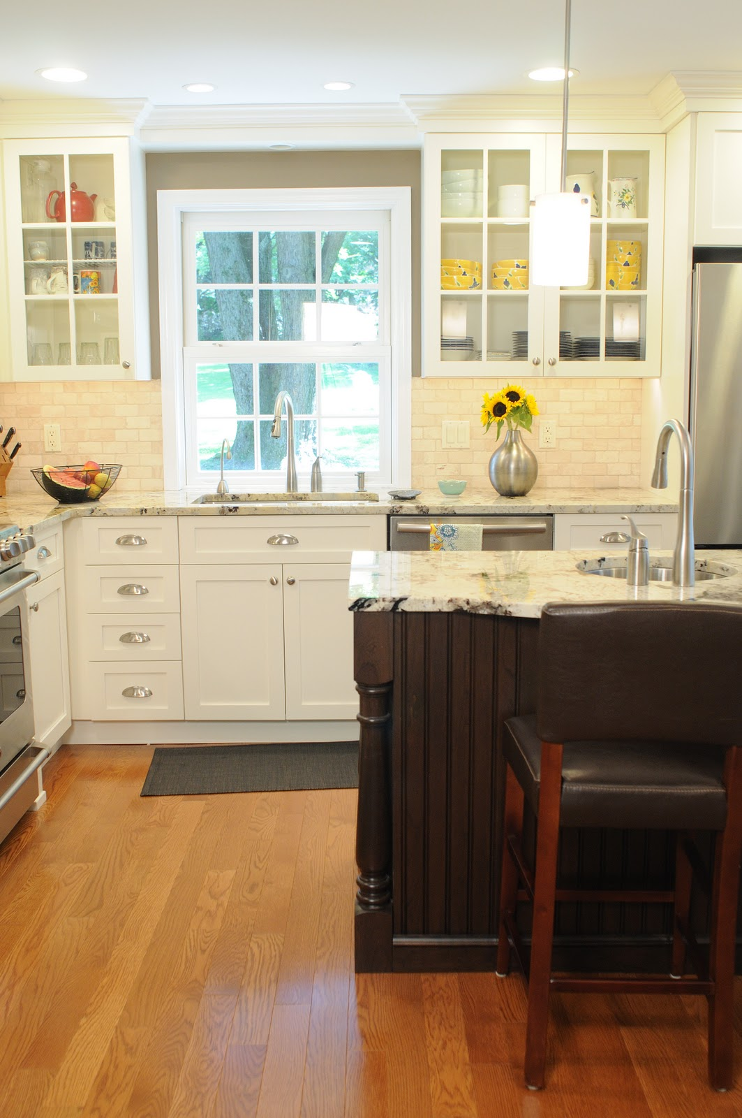 Clean Crisp Kitchen Redo Becomes The Heart Of The Home Design