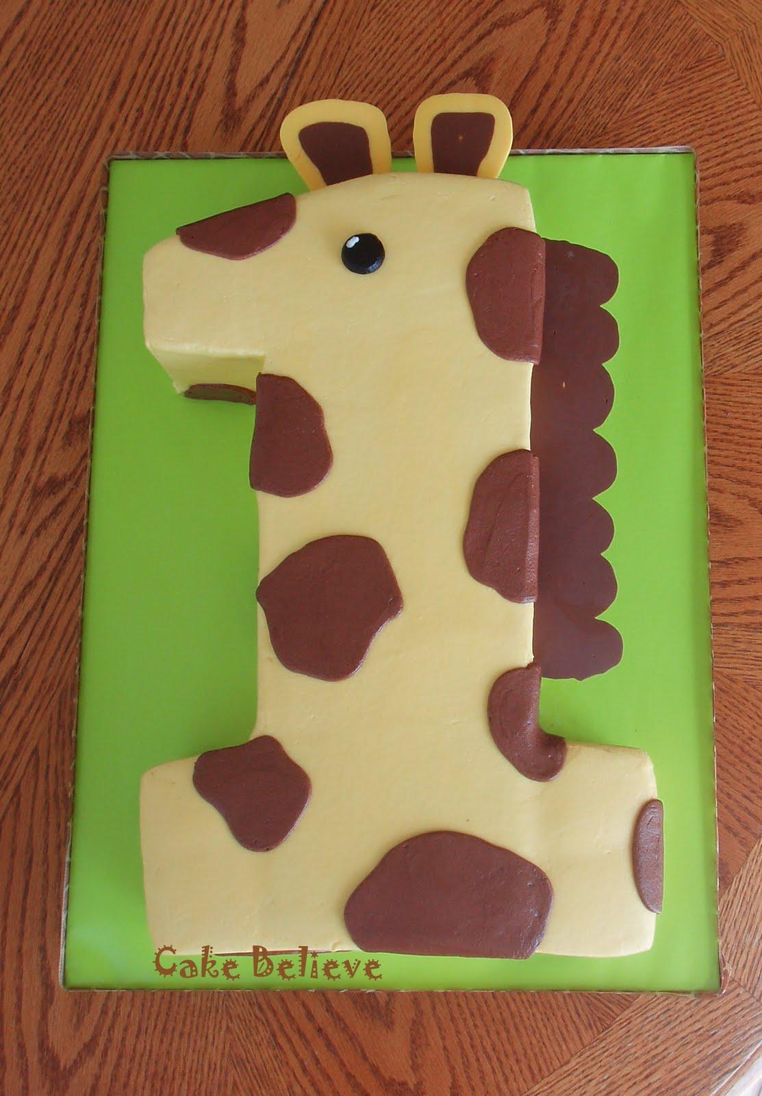 Cake Believe First Birthday Giraffe