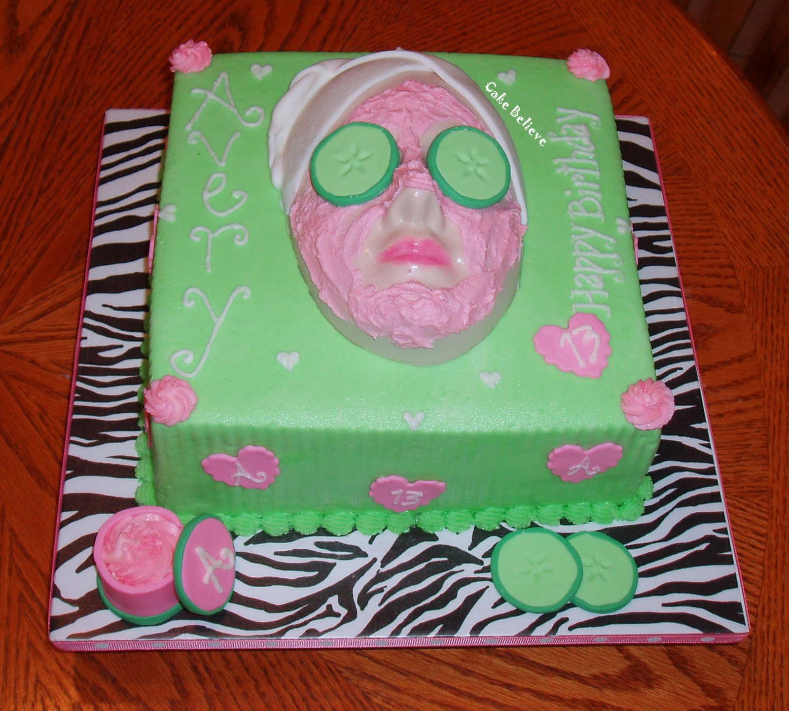 Birthday Cake Ideas For 13 Yr Old Girl : Cake Believe: Spa Birthday
