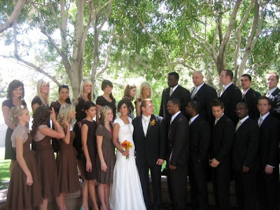 Wedding Party on Had Never Seen Such A Large Bridal Party  It Was Definitely A