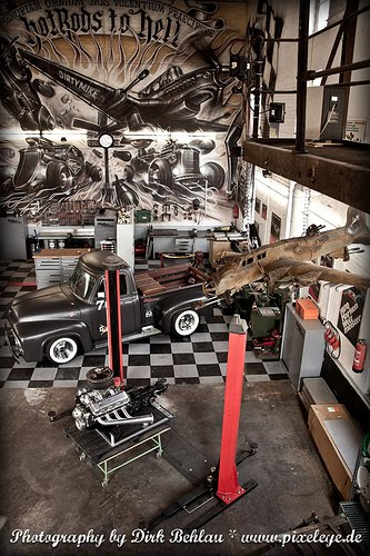 Hot Rod Garage : Alicia hanson design hot rod garage studio spaces