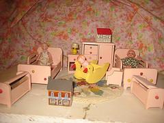 Strombecker Dollhouse Bedroom Set