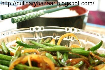 Stir fried Green beans with Garlic