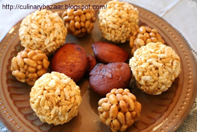 Peanut and Puffed Rice Laddu & Appam
