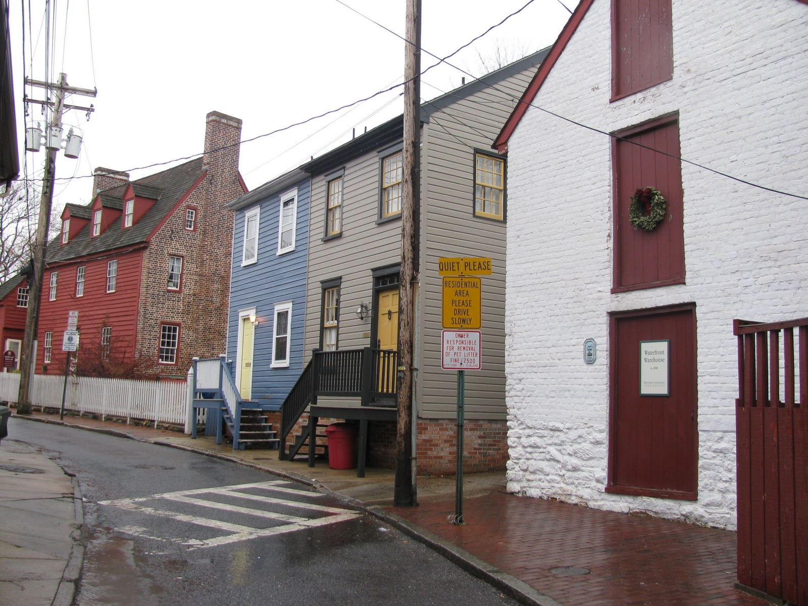 Mid-Atlantic Musings: Downtown Annapolis On A Rainy Winter