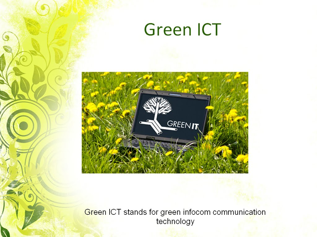 the green ict The role of ict in green logistics: a systematic literature review volker frehe and frank teuteberg abstract this chapter provides a systematic literature review of.