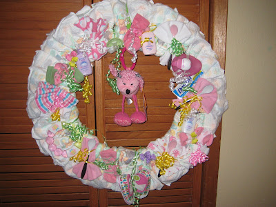 The Chic Sheikhs Diaper Wreath Baby Shower Gift Fun Idea
