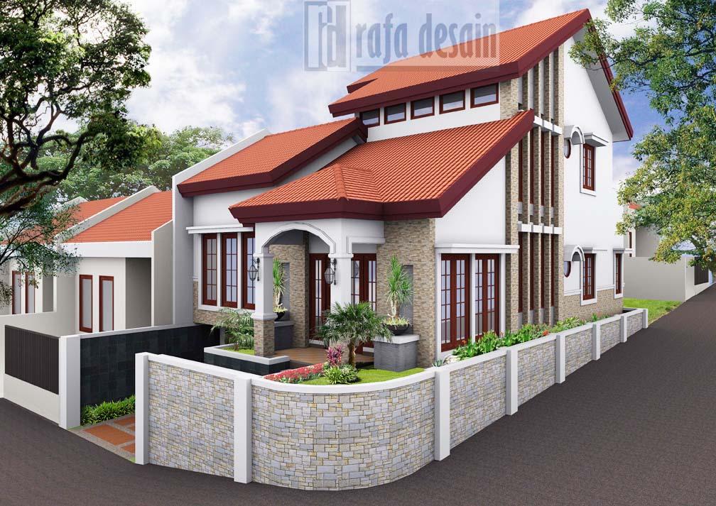 Design ini di buat di lahan dengan luasan 18m x 10m.
