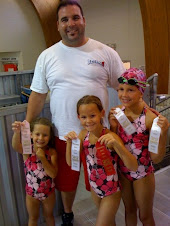 Girls at First Swim Meet w/ Coach Mike