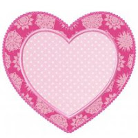Planet Applique Double Heart