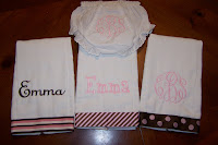 3 Burp Cloths and Bloomers