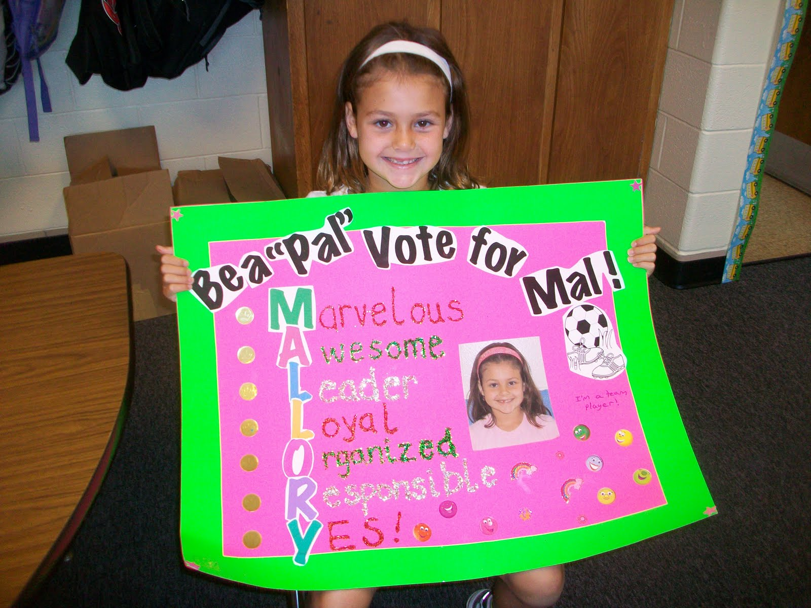 Elementary School Student Council Poster http://kgarman.blogspot.com/2010/09/our-student-council-rep.html