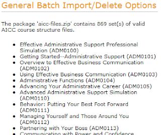 Bulk courseware import preview