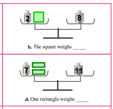 Pan balance problems to teach algebraic reasoning