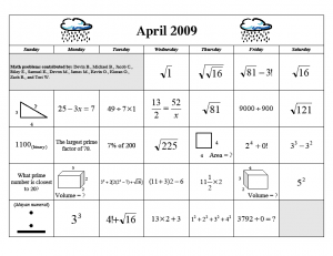 math worksheet : april fun  homeschool math blog : Calendar Math Worksheets