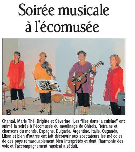 Chirols, le 26/08/08, Dauphiné Libéré