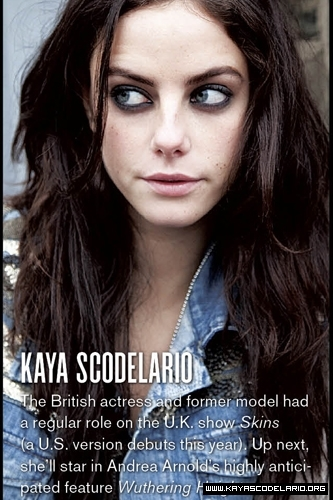 Kaya Scodelario in VMagazine Skins Fansite 0 Comments