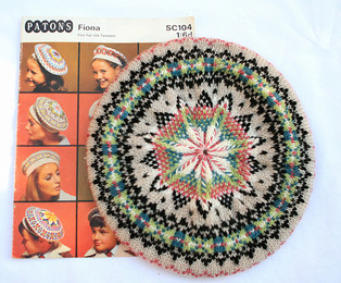 Fair Isle Beret Knitting Pattern : Crinoline Robot: 1960s Fair Isle beret