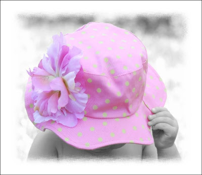 sun hats for babies. These handmade flower sun hats