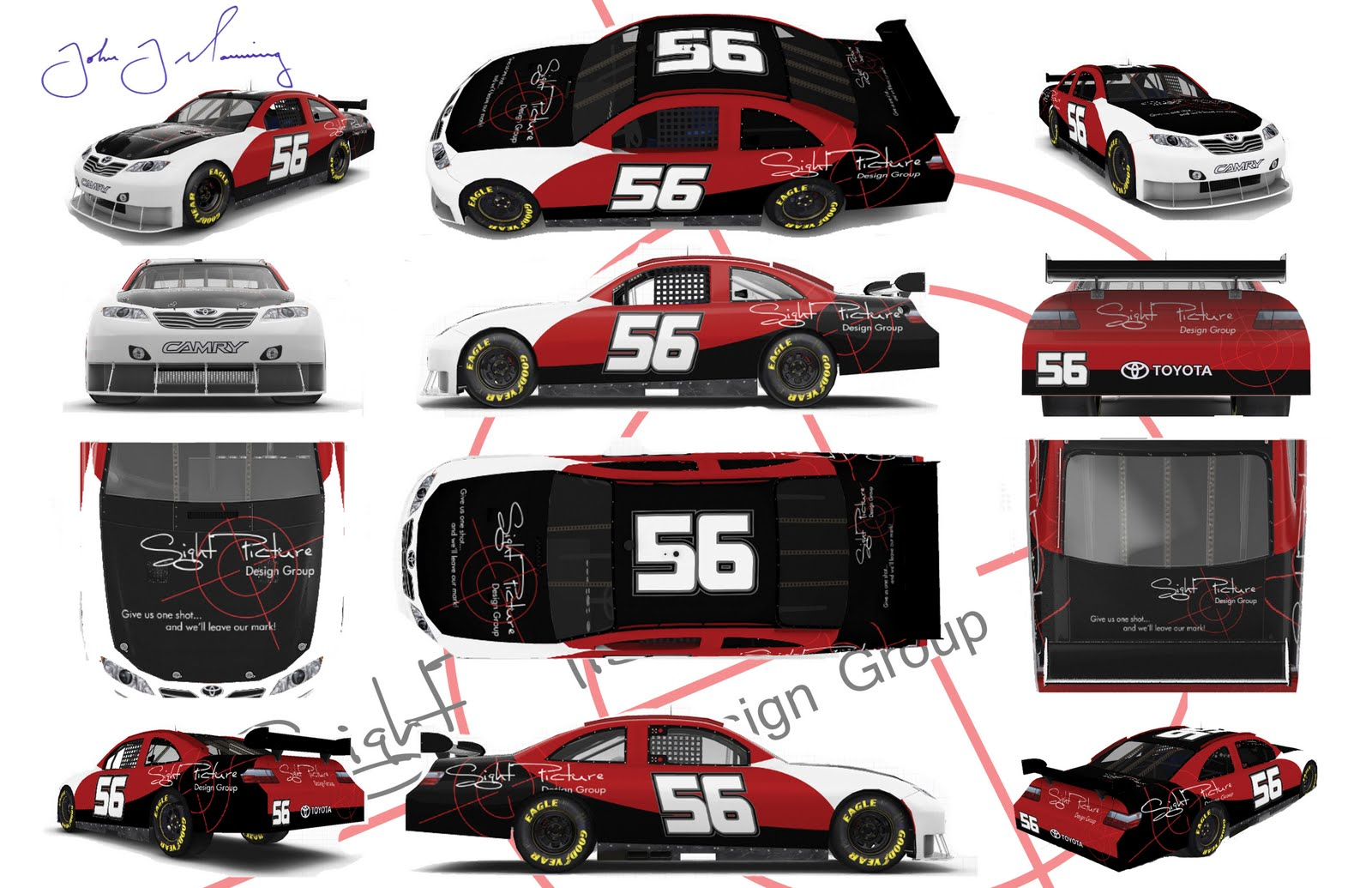 Design car contest -  Was Something I Heard About When Watching A Nascar Race One March Day In 2010 For Fun I Thought I Would Design A Car For The Toyota Sponsifier Contest