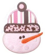 Snowman applique