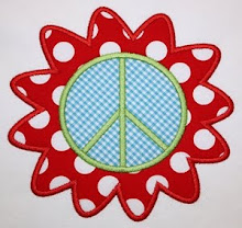 Flower Peace Sign Applique
