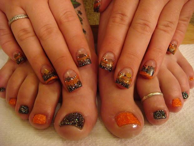 nail art halloween nails and toes