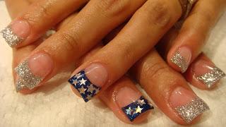 Cowboys Acrylic Nails Nails Acrylic