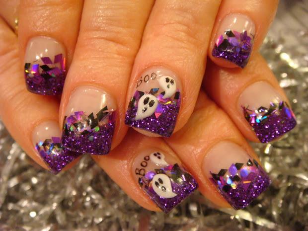 halloween nail acrylic art class