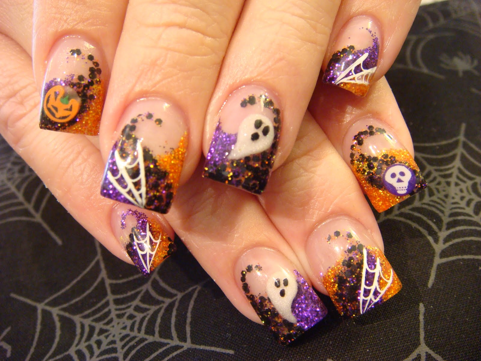 Halloween nail designs pccala just loving this design just a cute halloween combination the feeling nail venturous prinsesfo Image collections