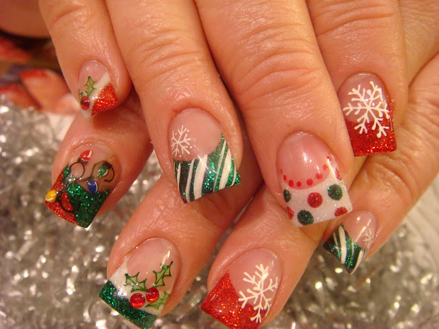nail art of christmas 2010