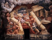 Mantova, affresco della Sala dei Giganti-Palazzo Te
