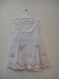 dress pesta anak motif bunga