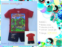 Stelan baju kartun anak Scooby Doo